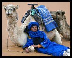 Hassan and the Camels----the Sahara Desert---Merzouga, Morocco