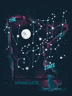 Image of The North Star State - Minnesota Poster . Birthday present for myself?!