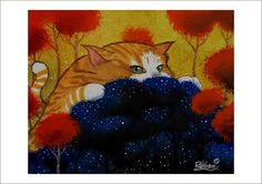 Night of cat by RaphaelVavasseur on Etsy