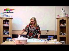 Passo a Passo Tintas Corfix - Caixa decorada com a técnica Shabby Chick com a artesã Vicky Perricci - YouTube