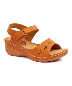 Loving this Camel Cutout Ankle-Strap Sandal on #zulily! #zulilyfinds