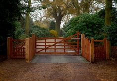 Sapele 'Dryham' 5 bar Gates and Bespoke Fencing. Fully installed and Automated in Langham
