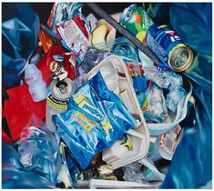 """""""GARBAGE OF NEW YORK"""" Oil on canvas - 25' x 21'"""