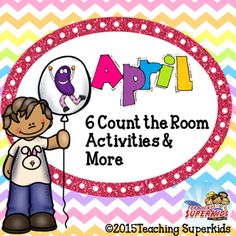 April Count the Room Task Cards  FREEBIE