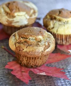 Fall Breakfast Recipe: Pumpkin Muffins with Eggnog Cream Cheese Swirl —  Recipes from The Kitchn