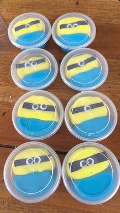 Minions playdough party favours