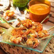 Crevettes sauce cacahuète - une recette Barbecue - Cuisine