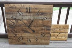 Large Wall Clock  Rustic.  Reclaimed Pallet Wood by terrafirma79, $140.00