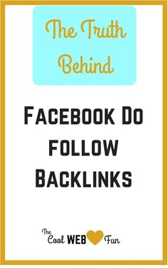 Free Do follow backlinks from Facebook. who does not want it? But will you really get the do follow backlink from static html? Click on http://www.coolwebfun.com/myth-free-do-follow-backlinks/