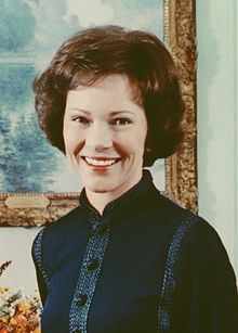 Eleanor Rosalynn Carter (née Smith; August 18, 1927) is the wife of the 39th President of the United States, Jimmy Carter and in that capacity served as the First Lady of the United States from 1977 to 1981. She has for decades been a leading advocate for numerous causes, perhaps most prominently for mental health research. She was politically active during her White House years,