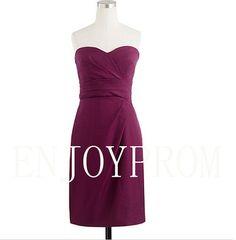 Sheath/Column Sweethear Taffeta Knee-Length Bridesmaid/Evening/Prom Dress$78.00