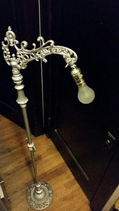 antique brass and milk glass floor lamp rewired antiques and rh pinterest com