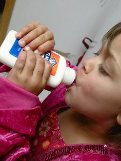Clean out a glue bottle and send it as a milk/juice bottle with their lunch!