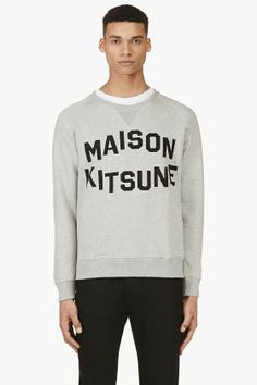In reality all I ever want to wear is a gray sweatshirt. MAISON KITSUNE Heather Grey Logo Sweater