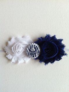 Indianapolis Colts Shabby Flower Headband- Girls/Toddler/Baby Headband