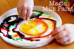 ¿Preparados para hacer pintura de leche? ¡Se lo pasarán bomba!