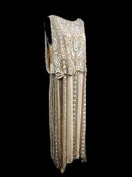 Inspired by historic fashion   www.myLusciousLife.com - Beaded Silk Evening Dress - c.1920 - by Frances & Co. Dressmakers Inc., New York (a favourite VIP Fashion Australia repin of www.vipfashionaustralia.com - specialising in blacklabel fashion women's clothing Australia and unique and exclusive fashion and style trends globally)