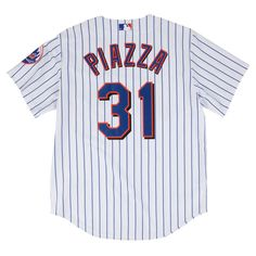 Men s New York Mets Mike Piazza 2000 Mitchell   Ness White Authentic Jersey 95b306aa7