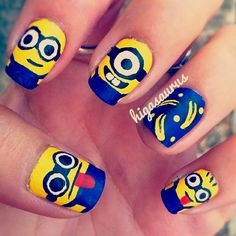 Deable Me Nails Minion Nail Art Strong Envy