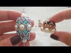 Necklace Tutorial, Earring Tutorial, Seed Bead Jewelry, Bead Jewellery, Beaded Earrings Patterns, Beading Patterns, Jewelry Making Tutorials, Beading Tutorials, Embroidery Jewelry