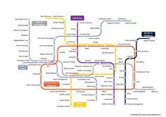 """Gianfranco Marini's insight: Da http://allaboardhe.org/questa splendida infografica / mappa interattiva che illustra le competenze digitali utilizzando la metafora della """"mappa della metropolitana"""". Struttura della MappaVi sono 6 linee caratterizzate da differenti colori che si intrecciano tra lo..."""