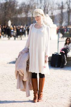 Paris fashion week. White, Brown & Black.