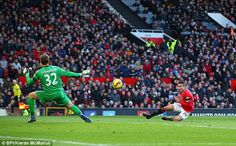 Van Persie's (right) goal was spectacular but there were suspicions of offside