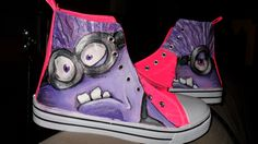 evil Minion shoes hand painted shoes