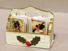 box of miniature Christmas cards, by London Dolls` houses and Toys