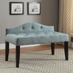 Shop for Furniture of America Flax Fabric Upholstered Tufted 42-inch Bench. Get free shipping at Overstock.com - Your Online Furniture Outlet Store! Get 5% in rewards with Club O!