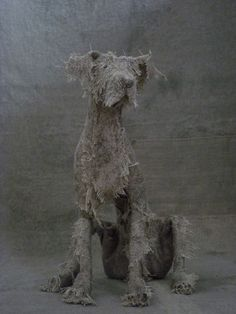 Expressive Dog Sculptures by Helen Thompson http://designwrld.com/dog-sculptures-by-helen-thompson/