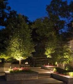 landscape and outdoor lighting design ideas, installation instructions, how-to guides, maintenance tips & project ideas Residential Landscaping, Outdoor Landscaping, Outdoor Gardens, Hillside Landscaping, Backyard Lighting, Outdoor Lighting, Landscape Lighting Kits, Low Maintenance Landscaping, Outdoor Light Fixtures
