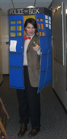Doctor Who in the Tardis - DIY Halloween costume. @Carolyn Kesler. Can I convince you to dress up for Halloween?