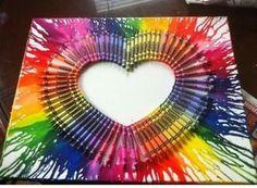 Melted Crayola art
