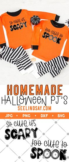 Learn how to make Halloween pajamas with these free cute Halloween SVG files. Download the SVG's for free and use your Cricut or Silhouette to cut some black HTV and layer grey or silver HTV on top of the black to make these cute Halloween pajamas for kids. Kids will love these DIY Halloween Pajamas made with this free Halloween SVG file. Make your own pajamas for Halloween in a few easy steps.