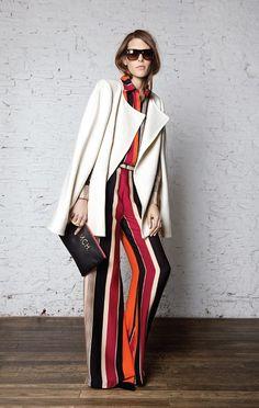 striped jumpsuit with white blazer // maria cher lookbook spring 2013