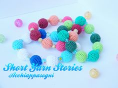 Amigurumi Beaded Bracelet / Summer Colors / Crochet Bracelet Handmade / Summer Edition by ShortYarnSories on Etsy