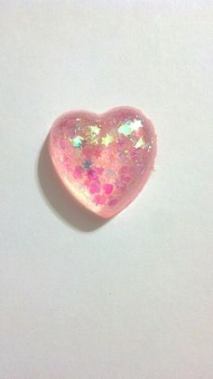 Light Pink Resin Heart
