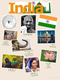 Abelliñas viaxeiras | El Vuelo de las Mariposas Around The World In 80 Days, Around The Worlds, India For Kids, India Poster, World Thinking Day, Board Decoration, History For Kids, National Symbols, Spanish Class