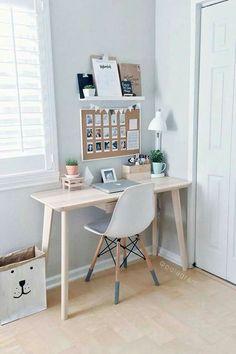 Modern Minimalist Bedroom, Minimalist Office, Bedroom Modern, Grey Bedrooms, Bedroom Simple, Minimalist Apartment, Bedroom Black, Trendy Bedroom, Minimalist Interior
