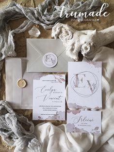 Svatební oznámení - Sand letters / Zboží prodejce Trumade   Fler.cz Origami, Place Cards, Place Card Holders, Origami Paper, Origami Art