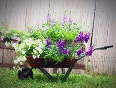 Old Rustic Child's Toy Metal Wheelbarrow, Great For Flower Pots, Garden Decor…