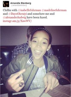 From Amandla's twitter...she and Alexander have been fused. be jealous some more @Chelsea Terry.