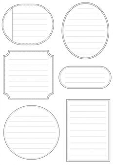 Free Printable Labels as journal notes. Printable Labels, Printable Paper, Free Printables, Labels Free, Blank Labels, Pocket Letter, Vide, Tampons, Smash Book