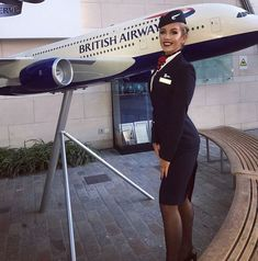 Tight Skirts Page: Uniform Tight Skirts 11 These Girls, Pin Up Girls, Tight Pencil Skirt, Tight Skirts, Short Skirts, British Airways Cabin Crew, Flight Attendant Hot, Airline Uniforms, Black Stockings