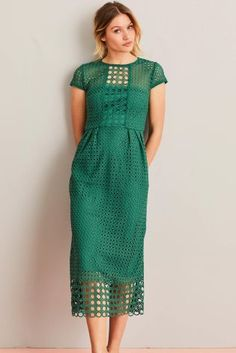 Buy Green Geo Lace Dress from the Next UK online shop Womens Fashion Uk, Latest Fashion For Women, Lace Dress, Dress Up, Green Dress Casual, Bridesmaid Dress Styles, Looking Gorgeous, Fashion Forward, Spring Fashion
