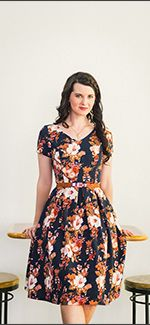 Amy Dress [MW22070-FLORAL] - $54.99 : Mikarose Boutique, Reinventing Modesty