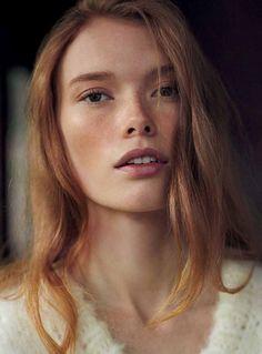 Vogue Germany February 2015 | Julia Hafstrom by Dan Mertensen [Editorial]