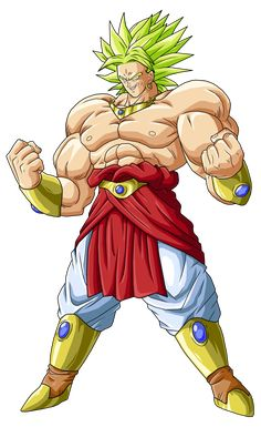 Broly Is The Male Character And Saiyan From Dragon Ball Z