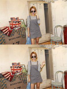 Cute overall skirt  #overall #skirt #KOODING.com